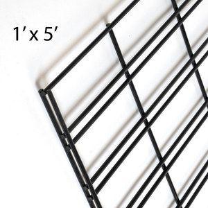 Matte Black Slatgrid Panels, 1' x 5'
