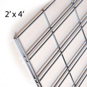 Chrome Slatgrid Panels, 2' x 4'