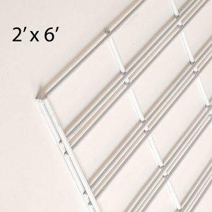 White Slatgrid Panels, 2' x 6'