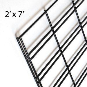 Black Slatgrid Panels, 2' x 7'