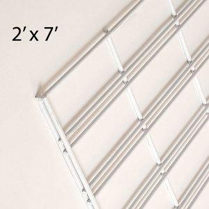 White Slatgrid Panels, 2' x 7'
