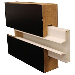 White, Plastic Channel Inserts for Slatwall