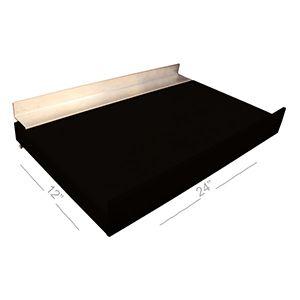 """Black, Slatwall Melamine Floating Shelves, 12"""" x 24"""""""