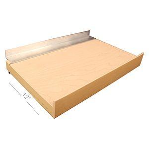 """Maple, Slatwall Melamine Floating Shelves, 12"""" x 24"""""""