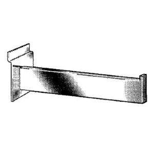 """12"""" Chrome, Straight Faceout Bracket for Slatwall or Slatgrid"""