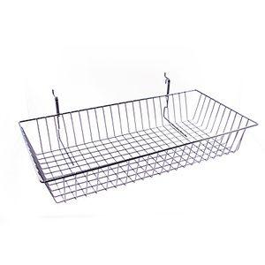 "Black Multi Wire Baskets, 24"" x 12"" x 4"""