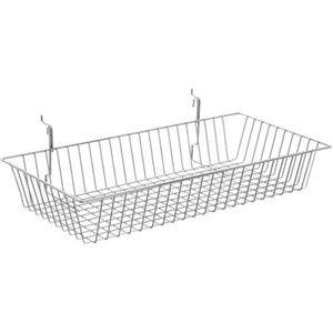 """Chrome Multi Wire Baskets, 24"""" x 12"""" x 4"""""""