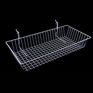 "White Multi Wire Baskets, 24"" x 12"" x 4"""