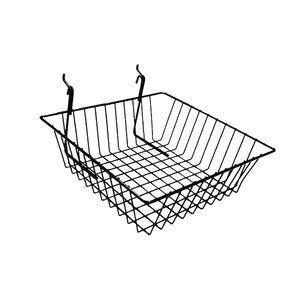 "Black Multi Wire Baskets, 12"" x 12"" x 4"""
