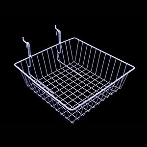 "White Multi Wire Baskets, 12"" x 12"" x 4"""