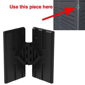 GOGO Part Middle Hinge Connector, Black