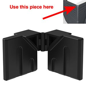 GOGO Part Top Hing Connector, Black