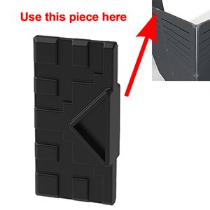 GOGO Part Middle End or Top Connector, Black