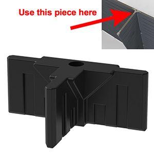 GOGO Part Top 3-Way Connector, Black