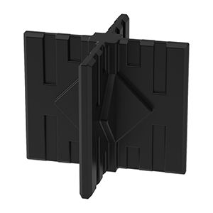 GOGO Part Middle or Foot 4-Way Connector, Black
