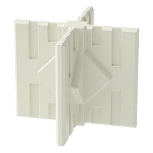 GOGO Part Middle or Foot 4-Way Connector, White