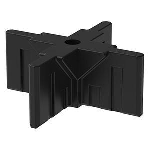 GOGO Part Top 4-Way Connector, Black