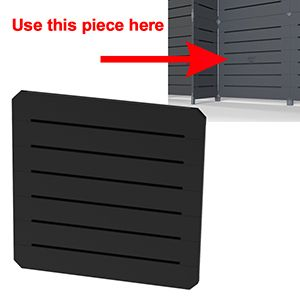 GOGO Panels, 2' x 2', Black Modular Slatwall