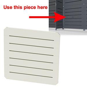 GOGO Panels, 2' x 2', White Modular Slatwall