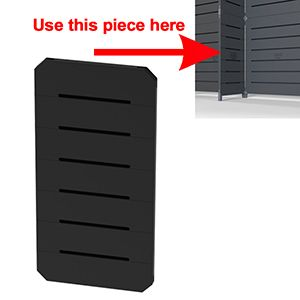 GOGO Panels, 1' x 2', Black Modular Slatwall