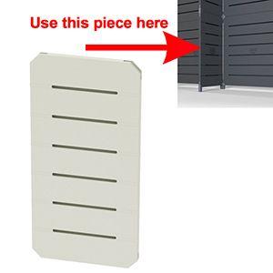 GOGO Panels, 1' x 2', White Modular Slatwall