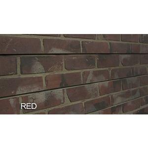 3D Bricks Textured Slatwall, Red