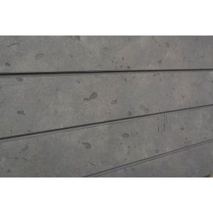 3D Cement Textured Slatwall, Natural Grey