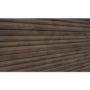 3D Corrugated Metal Textured Slatwall, Rust