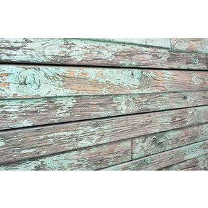 3D Old Paint Textured Slatwall, Green