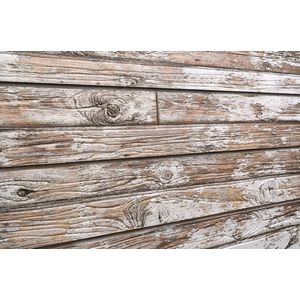 3D Old Paint Textured Slatwall, White