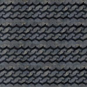3D Tire Tread Textured Slatwall, Black