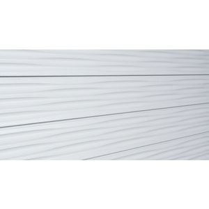 3D Linear Wave Textured Slatwall, White