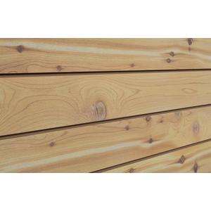 3D Wood Textured Slatwall, Cedar