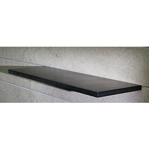 "Floating Slatwall Shelves, Black Paint , 9.125""D x 48""L"