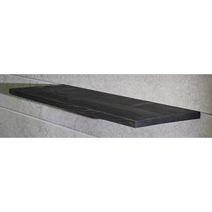 "Floating Slatwall Shelves, Black Stain, 9.125""D x 12""L"