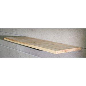 "Floating Slatwall Shelves, Natural Stain, 9.125""D x 12""L"