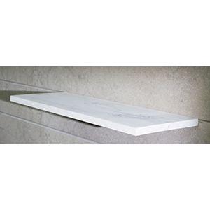 """Floating Slatwall Shelves, White Stain, 9.125""""D x 24""""L"""