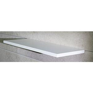 "Floating Slatwall Shelves, White Paint, 9.125""D x 24""L"