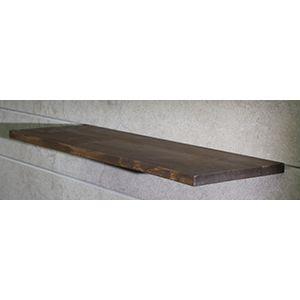 "Floating Slatwall Shelves, Walnut Stain, 9.125""D x 24""L"