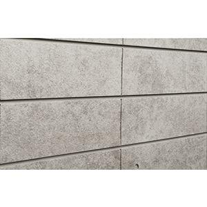 3D Textured Slatwall, Architectural Concrete Bleached, 2' x 4'
