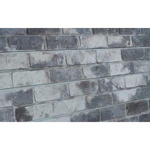 3D Textured Slatwall, Old Paint Brick Grey, 2' x 4'