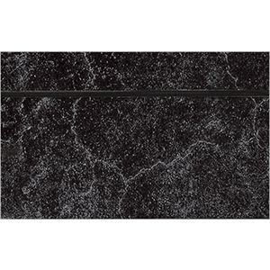 3D Textured Slatwall, Cracked Concrete Black, 2' x 4'