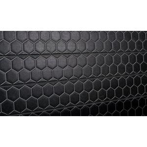 3D Textured Slatwall, Honeycomb Black, 2' x 4'