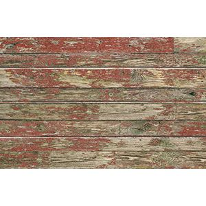 3D Textured Slatwall, Old Paint Red, 2' x 4'