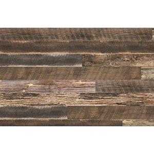 3D Textured Slatwall, Reclaimed Wood, 2' x 8'