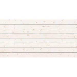 3D Textured Slatwall, Whitewash, 2' x 4'