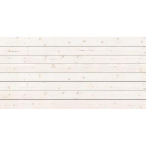 3D Textured Slatwall, Whitewash, 2' x 8'