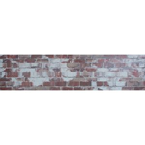 3D Wall Panels, Brick Old Paint Red, 2' x 4'