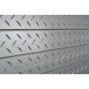 3D Wall Panels, Diamond Plate Galvanized, 2' x 8'