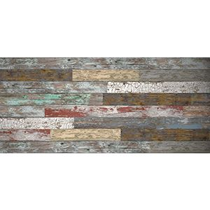 3D Wall Panels, Old Paint Mixed, 2' x 4'